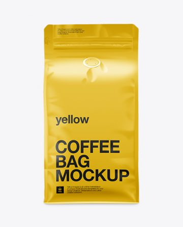 Coffee Bag Mockup / Front View