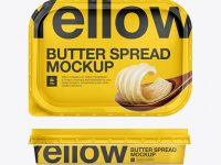 200g Margarine Spread Container Mockup