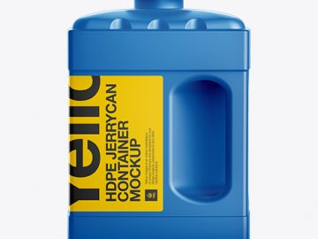 2L HDPE Jerrycan Container Mockup