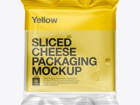 Sliced Cheese Packaging Mockup