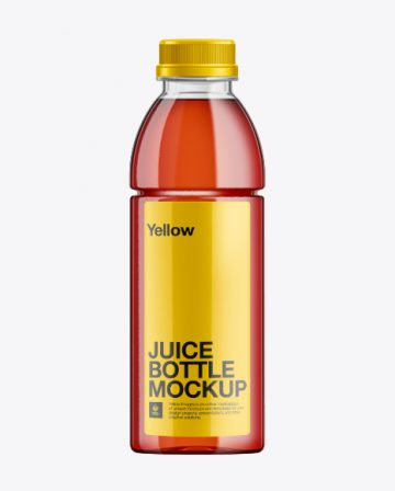 500ml PET Juice Bottle Mockup