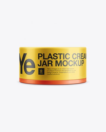 Plastic Cream Jar Mockup