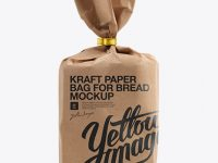 Small Kraft Paper Bag For Bread Mockup