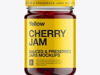 Glass Jar W/ Cherry Jam Mock-up