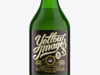 330ml Stubby Green Bottle Mock-Up