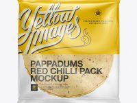 Red Chilli Pappadum Packaging Mockup