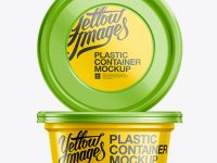 200g Plastic Food Container Mockup