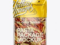 Tri-Color Penne Package Mockup