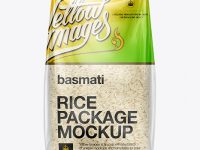 Bag W/ Basmati Rice Mockup
