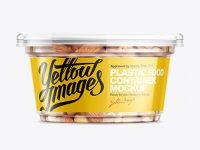 200g Plastic Cup W/ Mixed Nuts Mockup