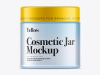 250ml Clear Plastic Cosmetic Jar Mockup