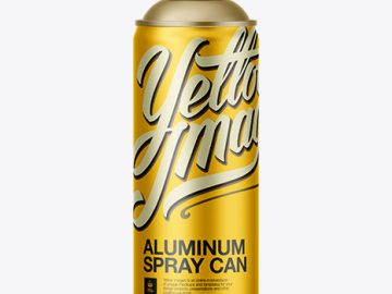 Aluminum Spray Can Without Cap Mockup
