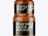 Canned Vegetable Sauce Jar Mockup