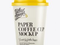 12oz Single Wall Paper Coffee Cup Mockup