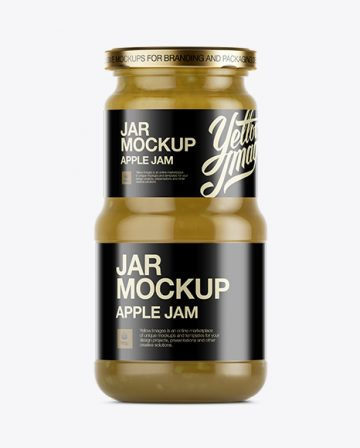 Apple Jam Jar Mockup