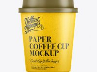 250ml White Paper Cup Mockup