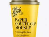 300ml White Paper Cup Mockup