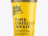 400ml White Paper Cup Mockup