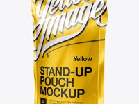 Stand Up Pouch with Zipper Mockup - 3/4 View