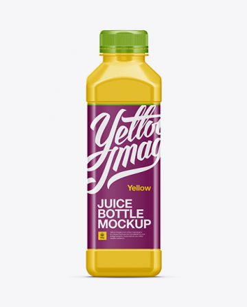 Plastic Juice Bottle Mockup