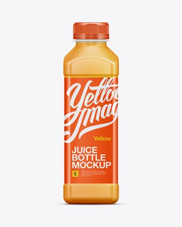 Matte Plastic Juice Bottle Mockup