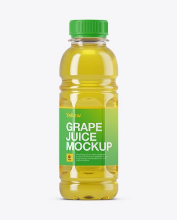 Plastic Grape Juice Bottle Mockup