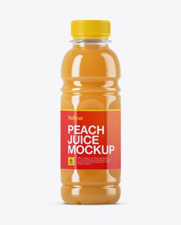 Peach Juice Bottle Mockup