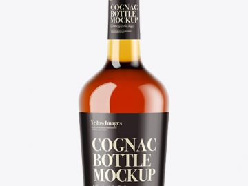 Cognac Bottle Mockup - Front View