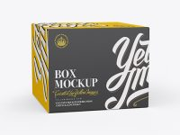 50ml Paper Box Mockup - 25° Angle Front View (Eye-Level Shot)