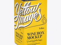 White Paper Wine Box - 70° Angle