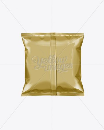 Gold Plastic Snack Package Small