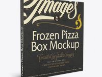 Frozen Pizza Box Mockup