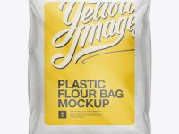 Plastic Bag with Flour Mockup