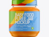 141ml Babyfood Carrot Puree Jar Mockup