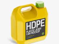 Plastic Jerry Can Mockup - Halfside View