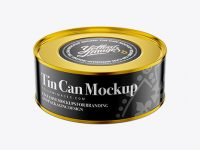 Tin Food Can Mockup