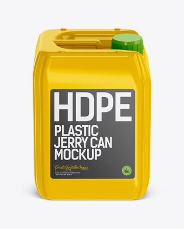10L Plastic Jerry Can Mockup - Front View
