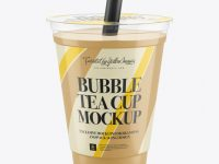 Bubble Tea Cup Mockup
