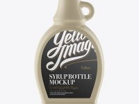 Ceramic Bottle W/ Maple Syrup Mockup