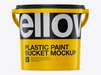 Plastic Bucket For Wipes Mockup - Front View