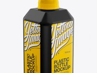 2000ml Plastic Bottle Mockup - Halfside View