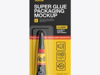 Super Glue Package Mockup - Front View