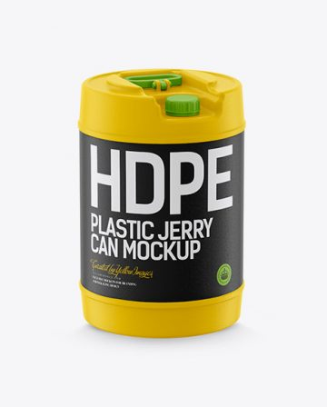 Round Plastic Jerry Can Mockup