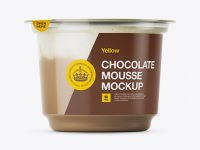Chocolate Mousse Cup Mockup - Eye-Level Shot