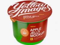 Apple Jelly Cup Mockup - High-Angle Shot