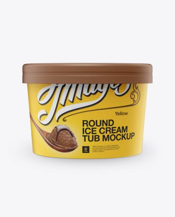 Ice Cream Cup Mockup - Front View