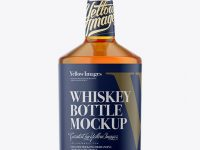 750ml Tokyo Bottle With Whiskey Mockup