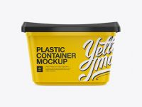 500g Glossy Butter Tub Mockup - Front, Top & Side Views