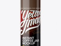 Glossy Jar For Instant Coffee Mockup