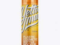 Plastic Cosmetic Bottle With Frosted Cap Mockup
